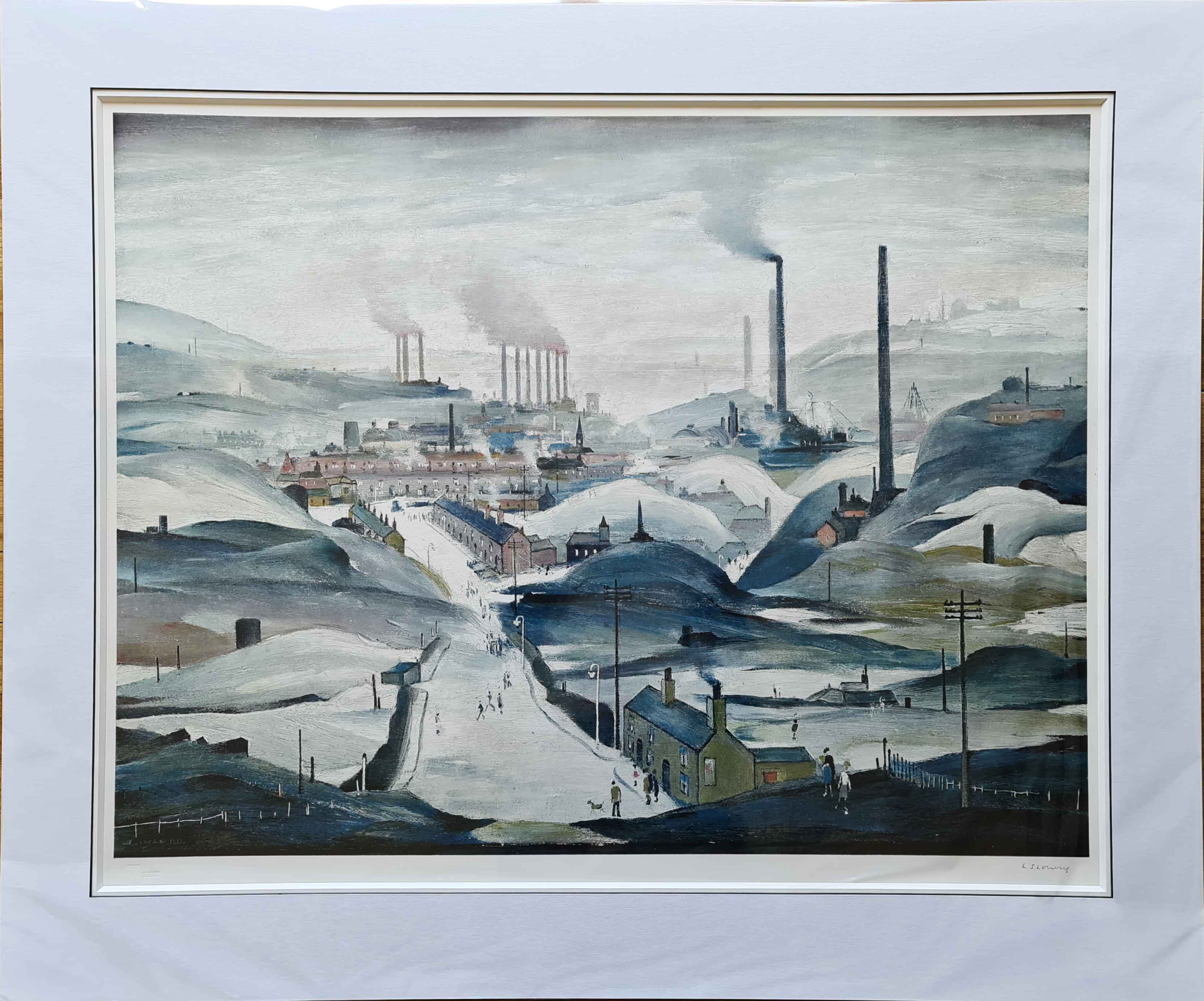 Lowry industrial panorama print