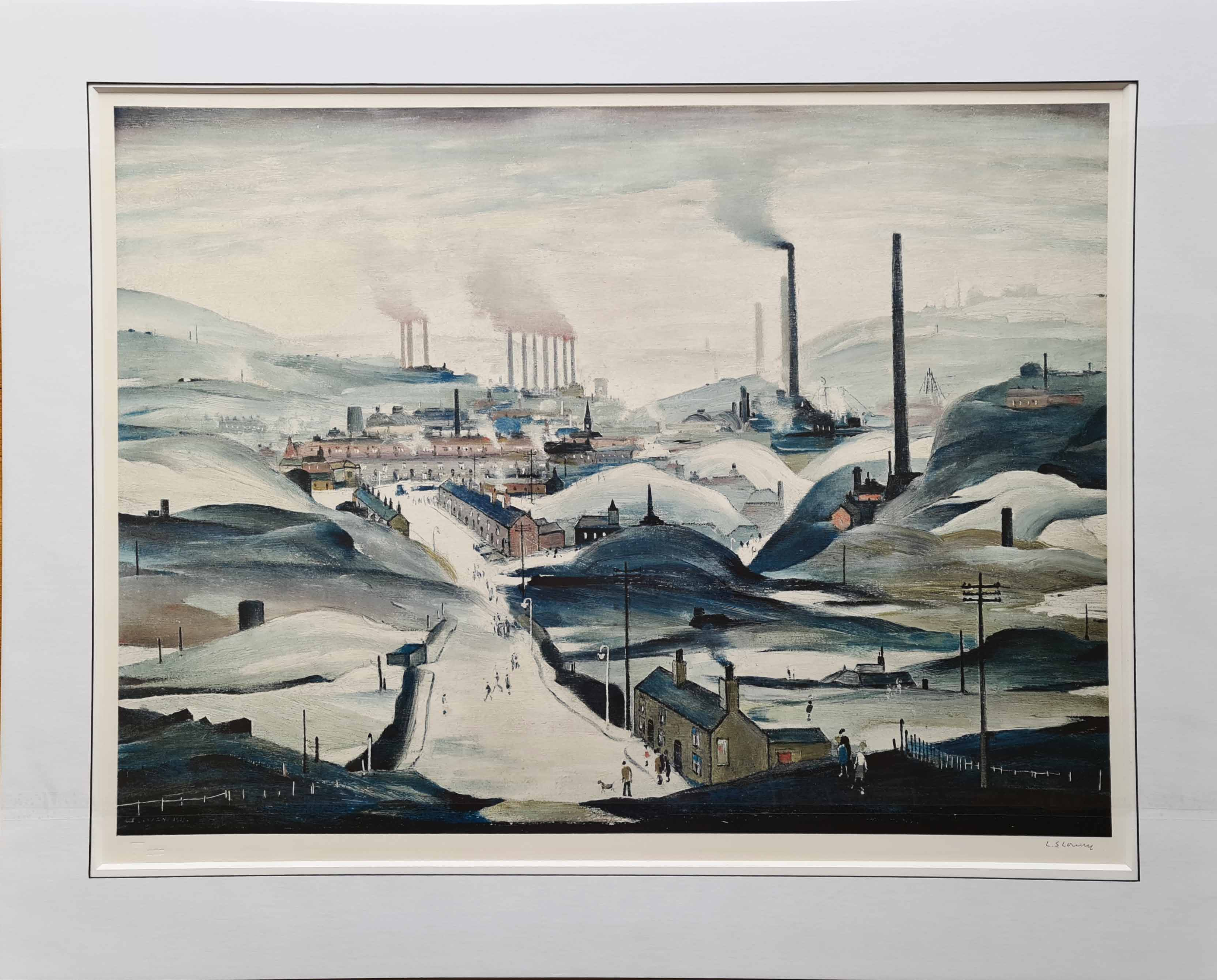 Lowry industrial panorama print mounted 1