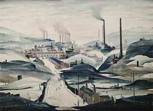 lowry, signed, prints, Industrial Panorama