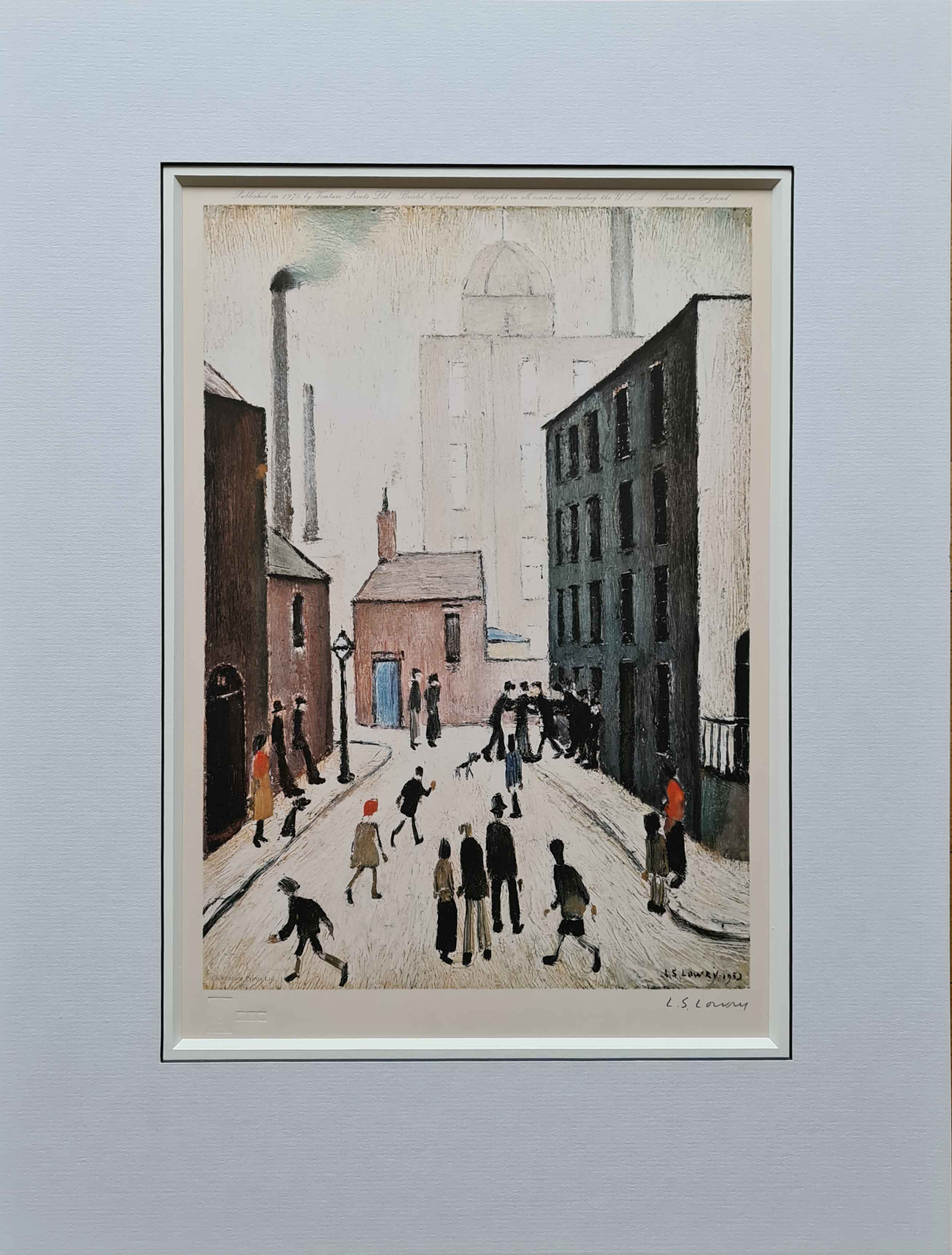 lowry, Industrial Scene, signed print lslowry