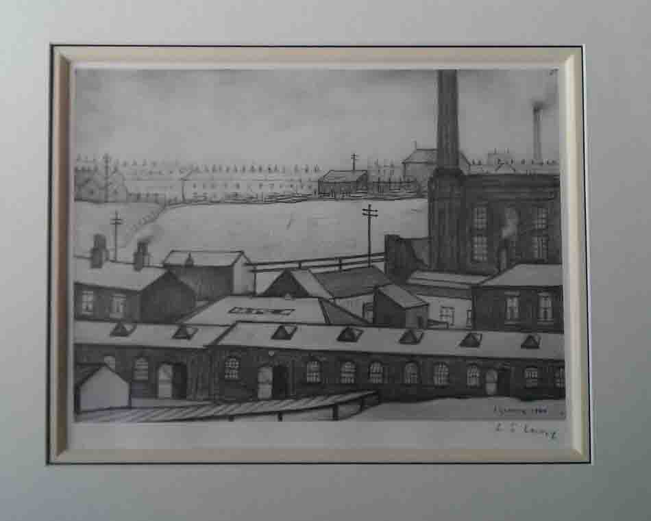 lowry industrial scene pencil
