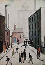 lowry signed prints, industrial scene