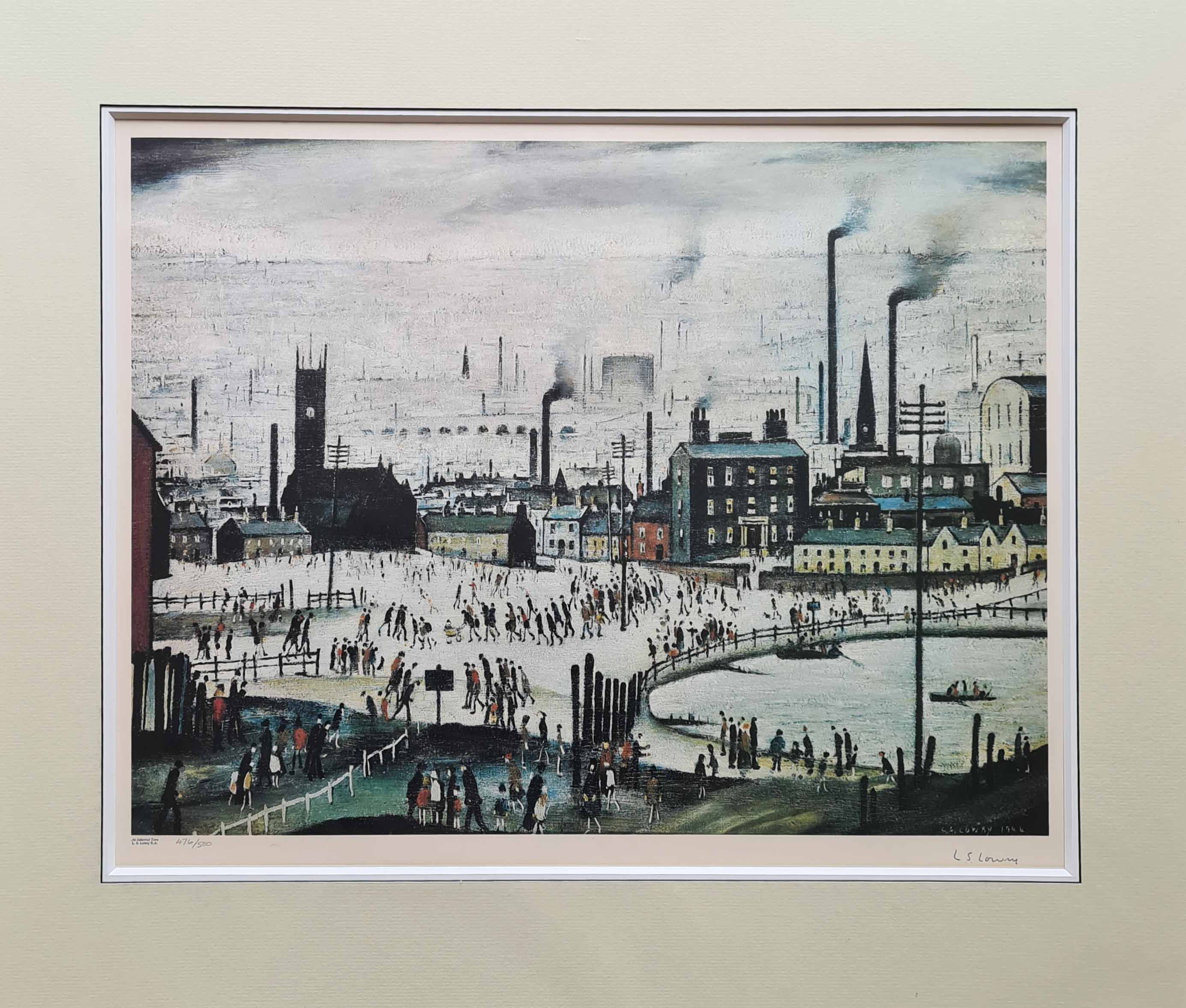 lowry, Industrial Town, signed print lslowry