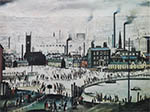 lowry signed prints, industrial town
