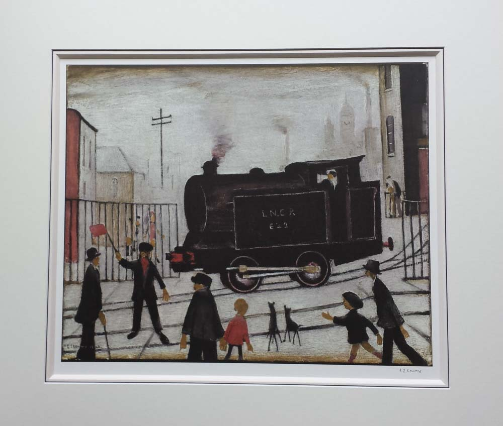 lowry level crossing with train print
