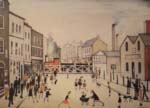 lowry signed prints, level crossing Burton on Trent