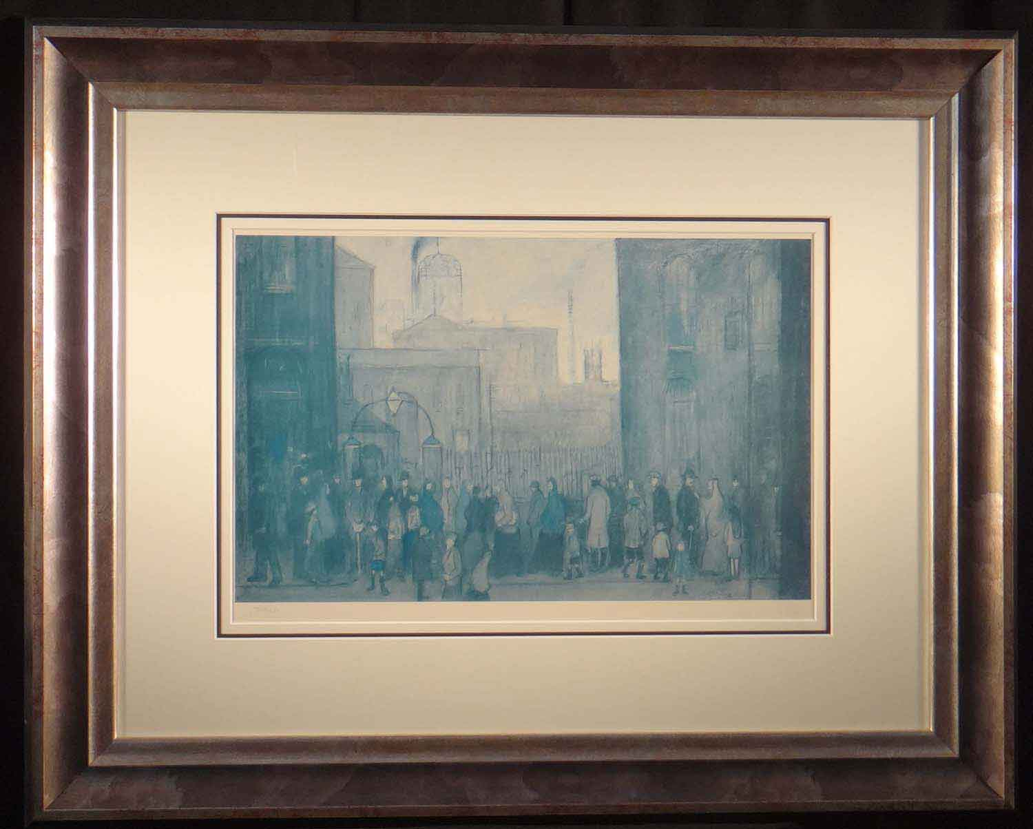 lowry,outside the mill 1930, limited edition print