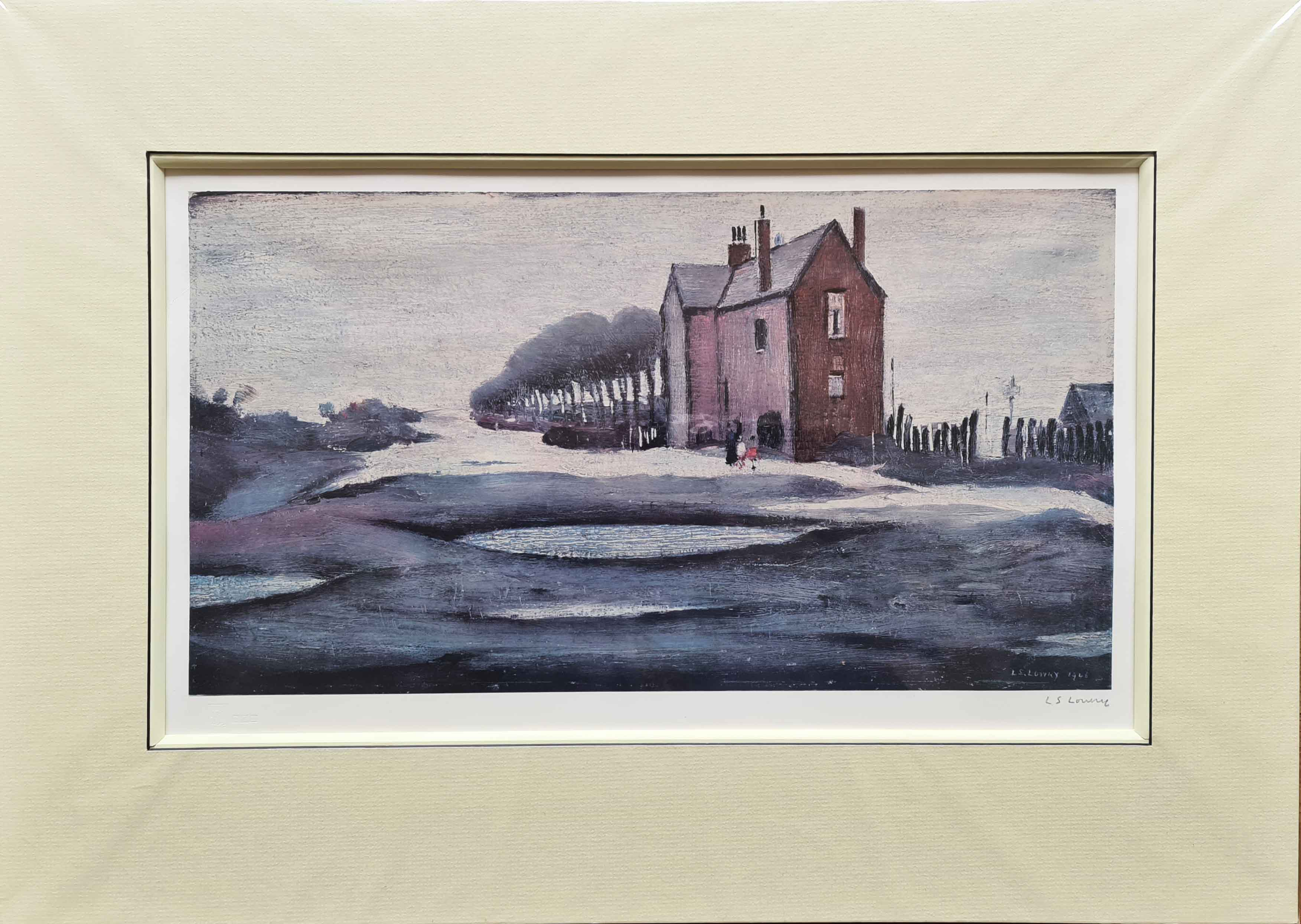 lowry lonely house signed print