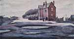 ls lowry lonely house print