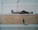 Old Steps Stockport, Lowry original signed limited edition lithograph