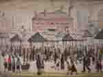 ls lowry market scene in a northern town print