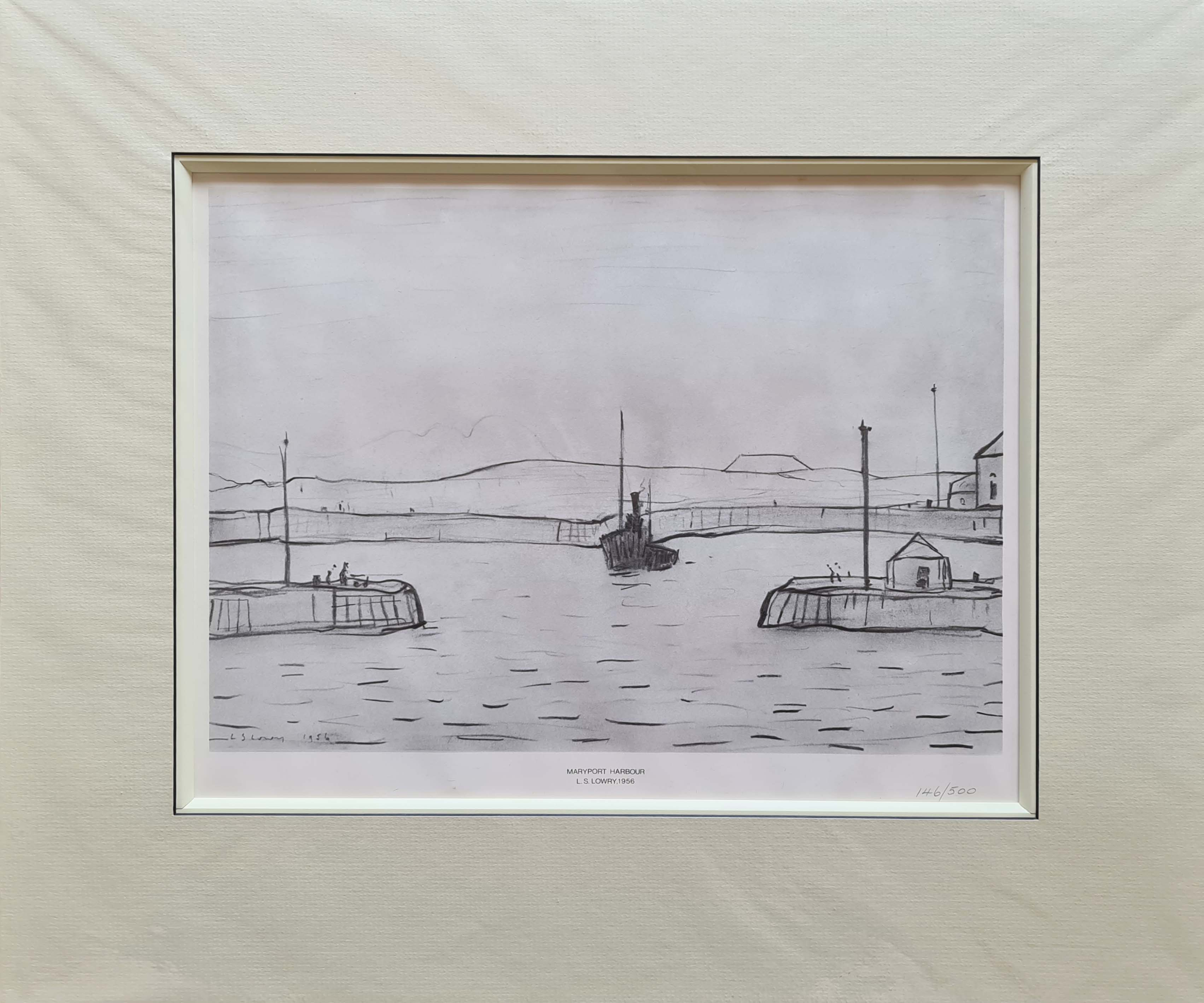 limited edition print Maryport Harbour