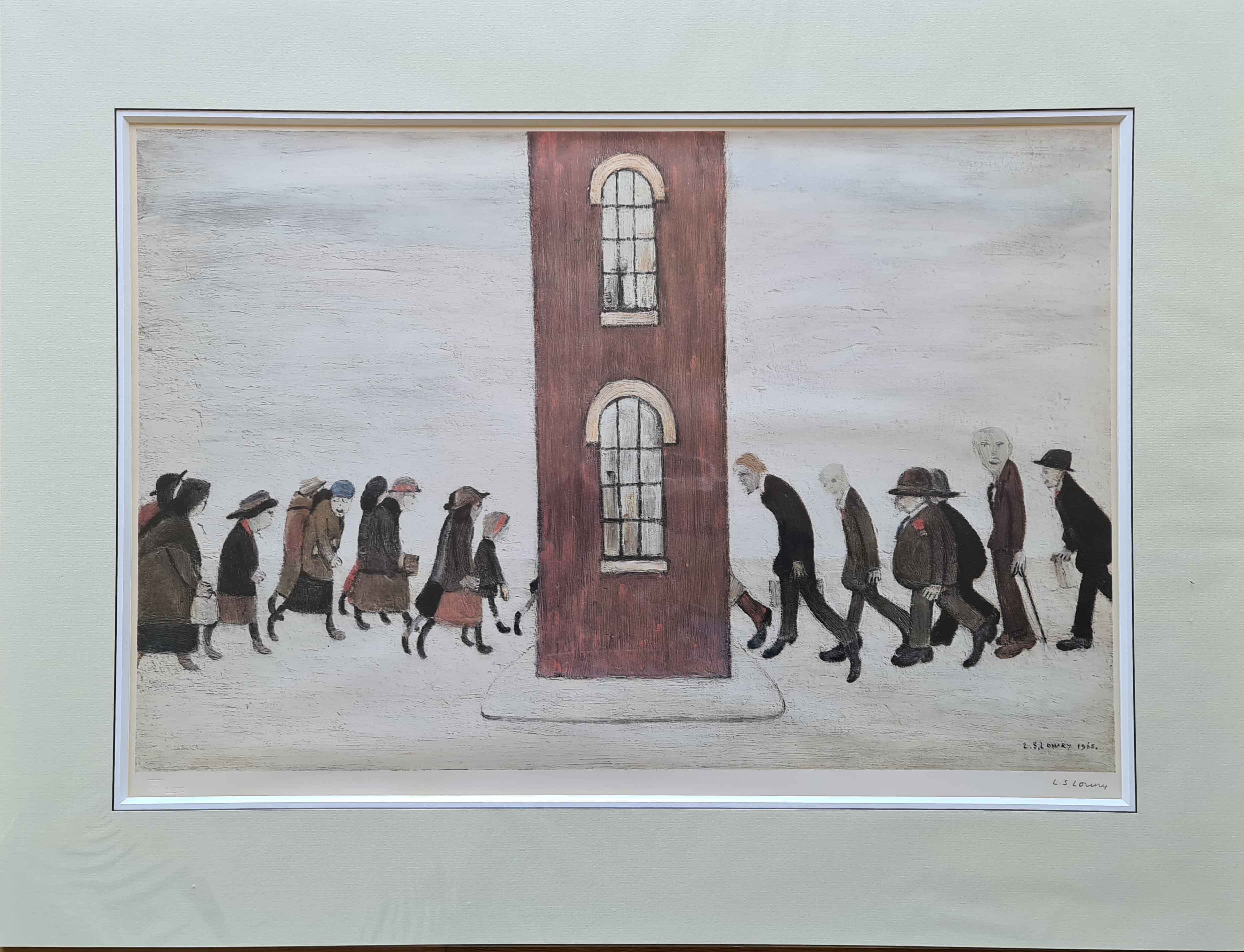 lowry, meeting point, signed print lslowry