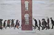 lowry, signed, prints, meeting point