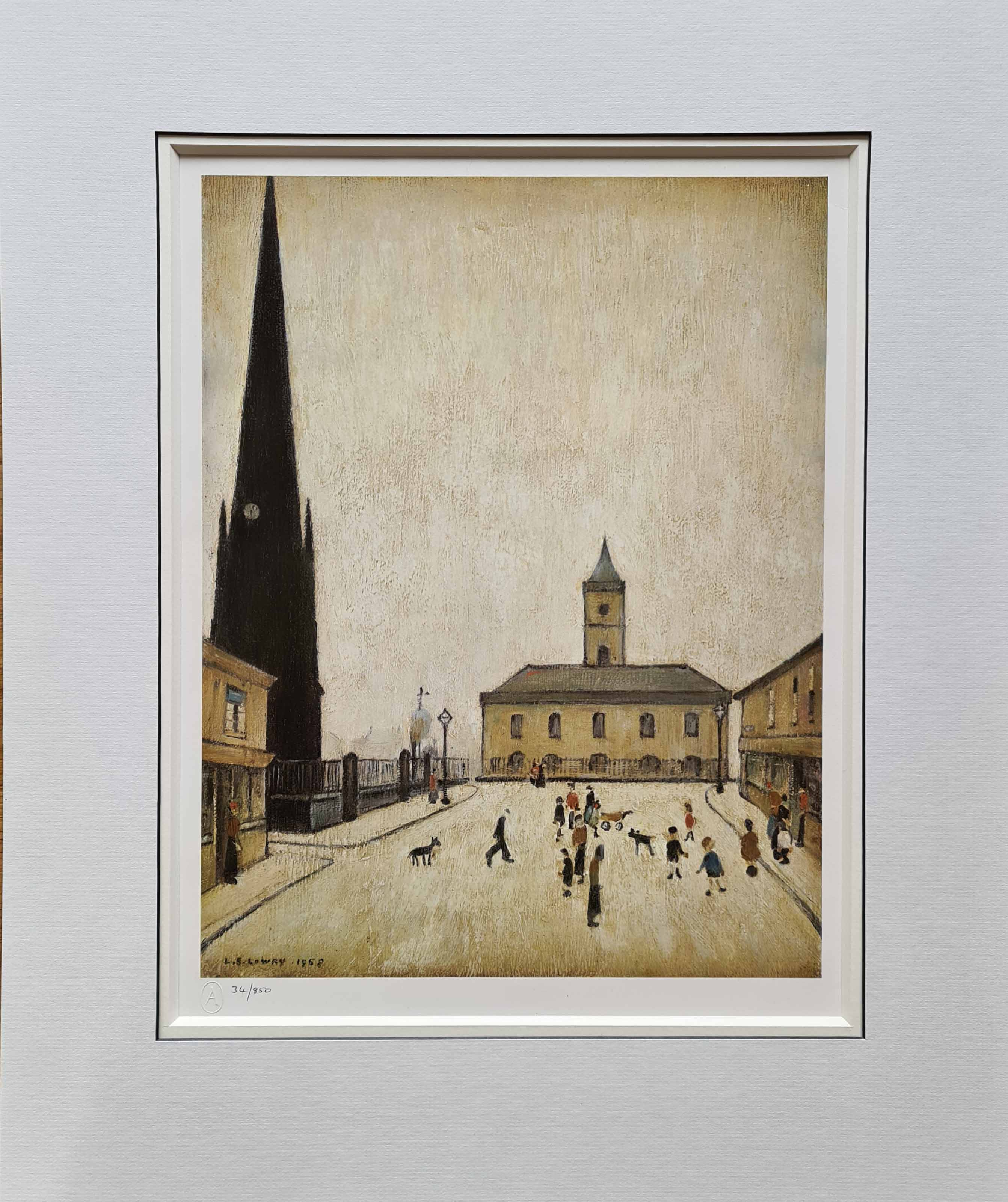 lowry, middlesbrough town hall, limited edition print