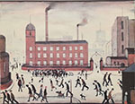 lowry signed prints, mill scene