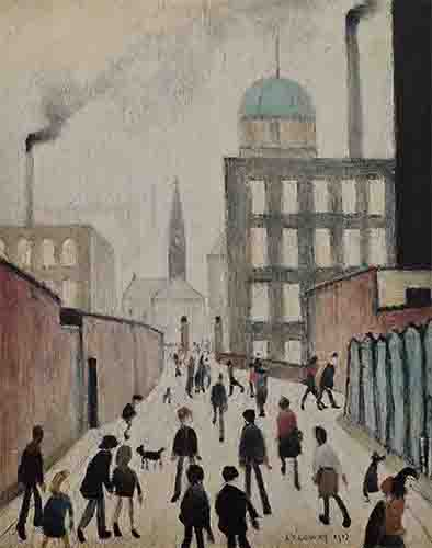 lowry, signed, prints, mrs swindell's picture