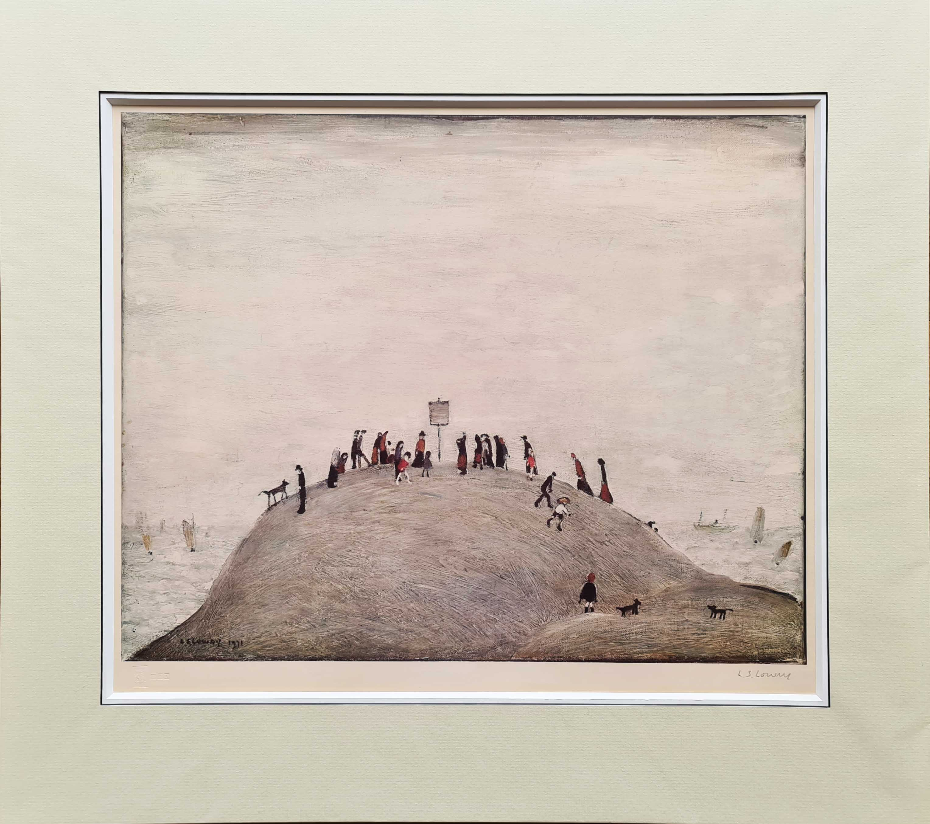 lowry notice board print mounted