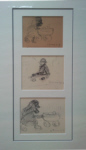 lowry signed prints, Nursery sketches