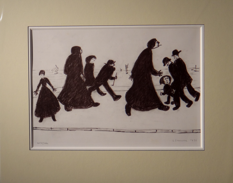 lowry, on a promenade, limited edition print