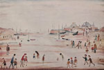 lowry, signed, prints, on the sands