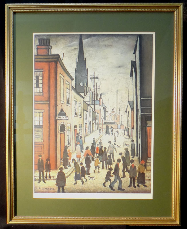 lowry, the organ grinder, limited edition print