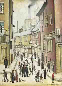 lowry arnold street original painting