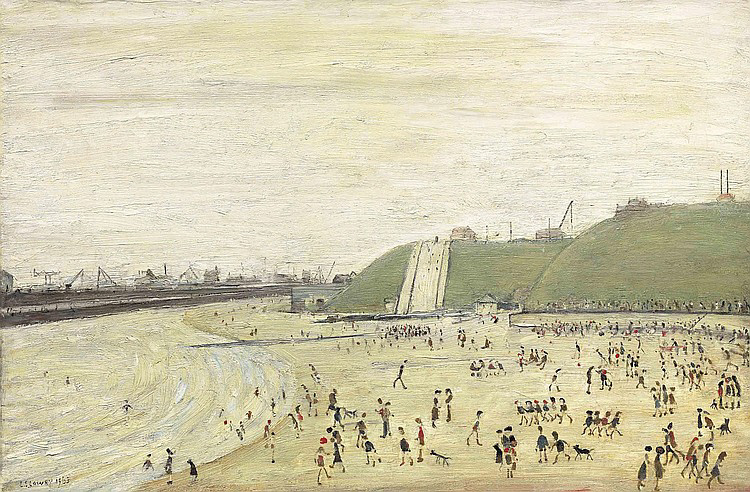 lowry beach at Roker original painting