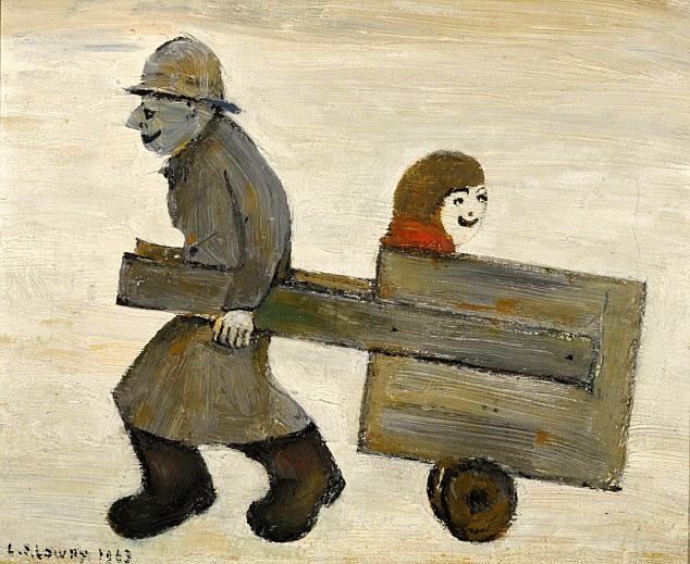 lowry boy in cart