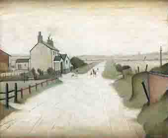 lowry country road near lytham original painting