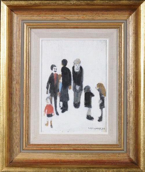 lowry family group original painting
