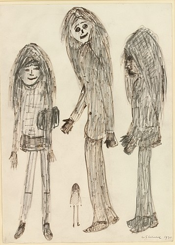 lowry four girls drawing