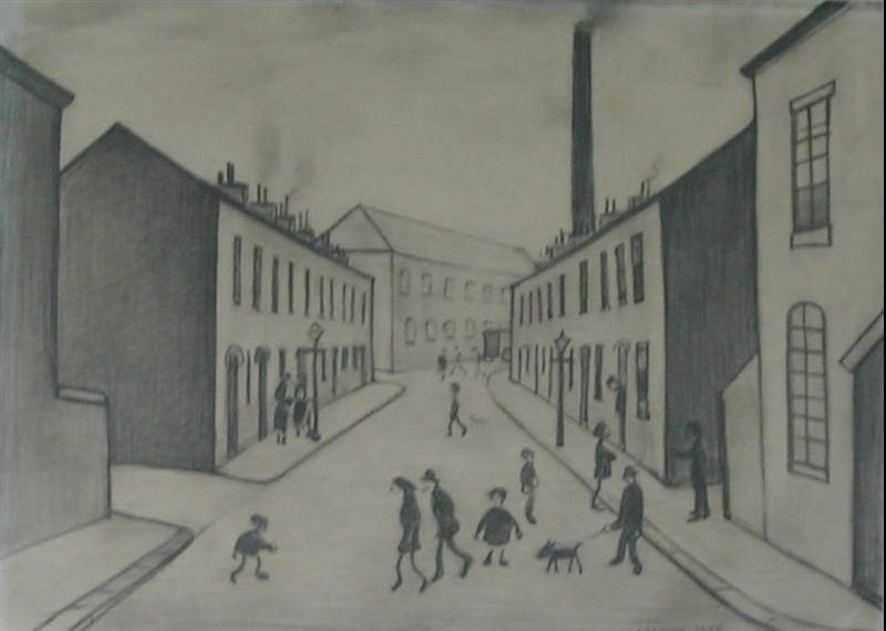 L.S.Lowry, Lowry, original, francis terrace, Salford
