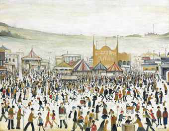 lowry fun at the fair Daisy Nook original painting