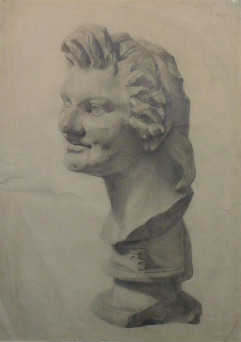 lowry head from the antique original drawing