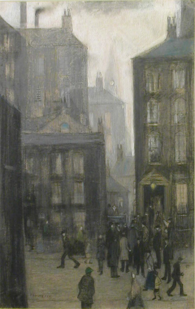 lowry lodging house original  pastel drawing