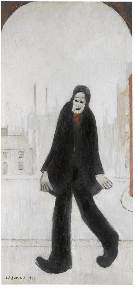 lowry man walking original painting