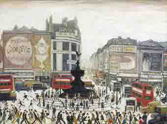 lowry piccadilly circus original painting