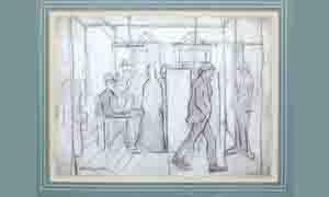 lowry polling station original drawing