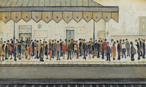 lowry railway platform original painting