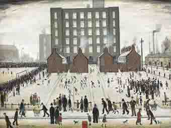 lowry saturday afternoon original painting