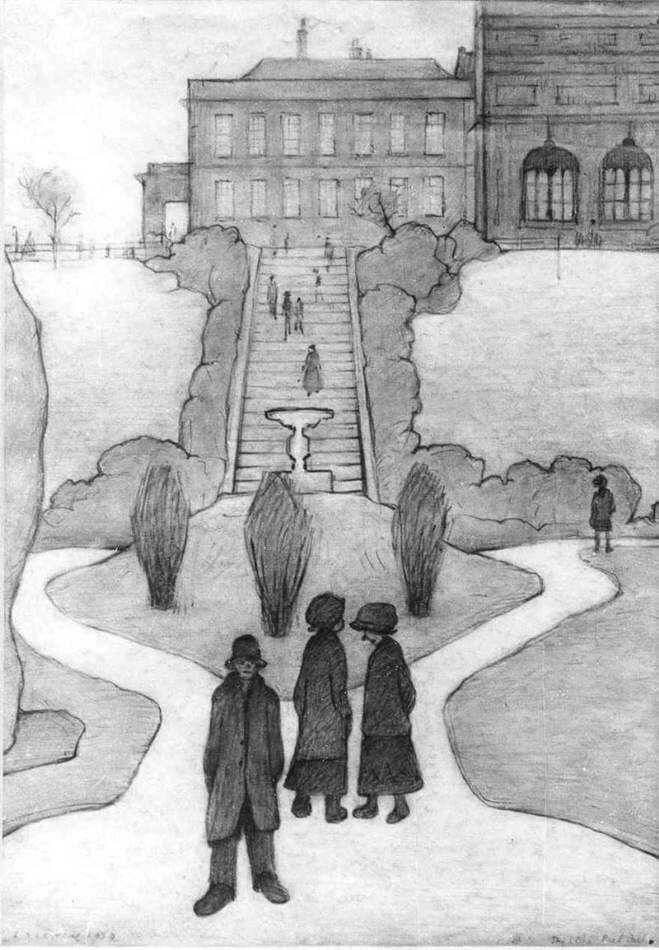lowry, steps, peel park