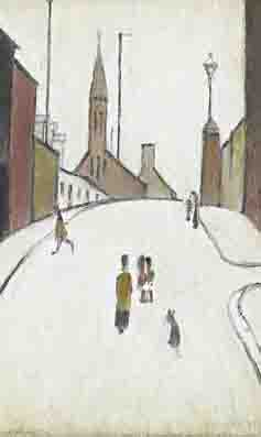 lowry street in Clitheroe original painting