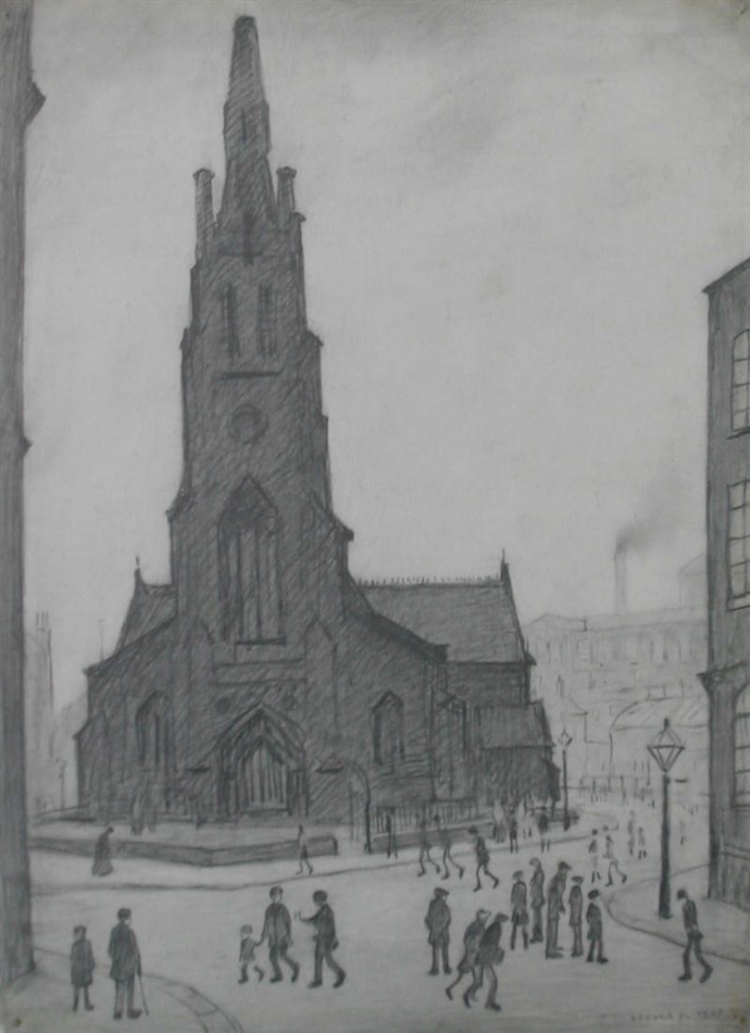lowry st. simon's church, drawing original drawing