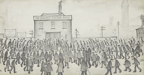 lowry swinbury station original painting