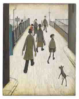 lowry the bridge original painting