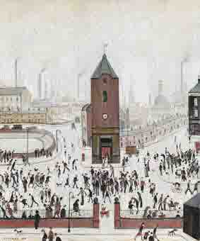 Lowry, original painting, town centre