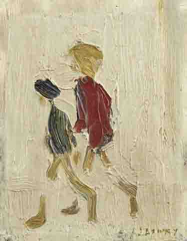 lowry two boys original painting