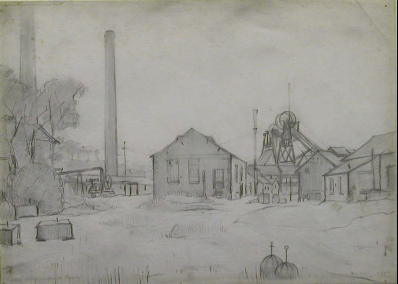 lowry, Wet Earth Colliery, Dixon, original, drawing