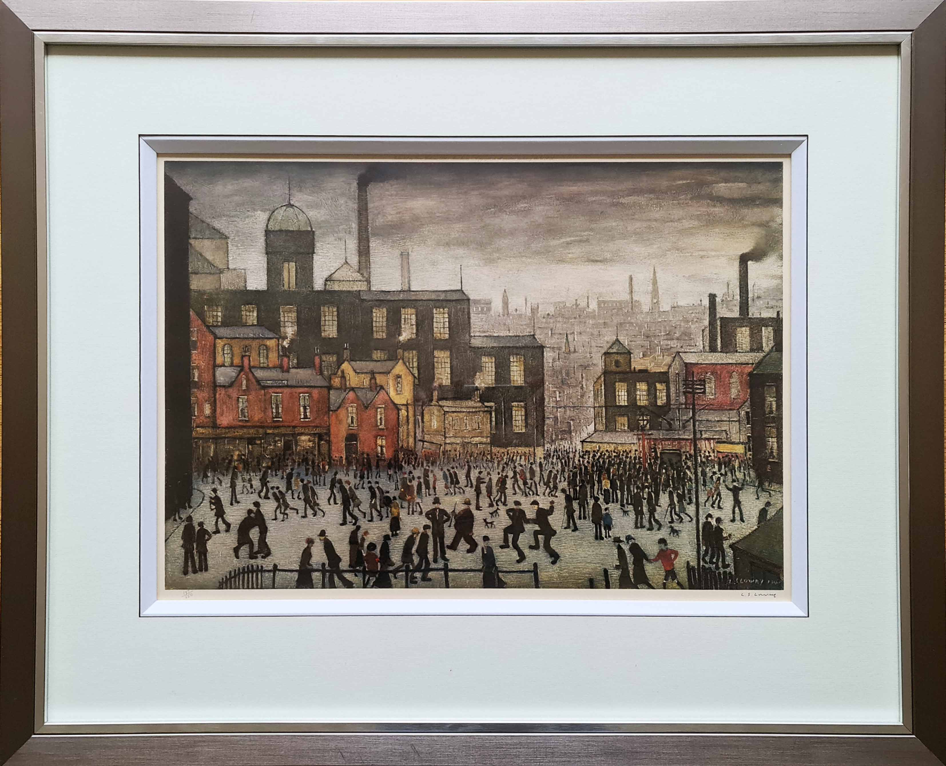 lowry, Our Town, signed print lslowry